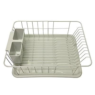 金德恩 台灣製造 多功能置物收納瀝水碗盤架 - 附贈瀝水筷籠