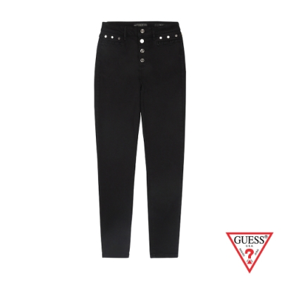 GUESS-女裝-簡約率性造型長褲-黑