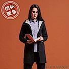 GIORDANO 女裝 softshell防風保暖收腰長版外套-08 標誌黑