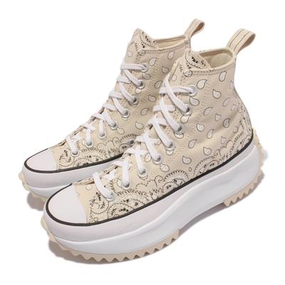 Converse 休閒鞋 Run Star Hike 厚底 男女鞋 經典款 舒適 增高 腰果花 鋸齒狀鞋底 米白 白 171941C