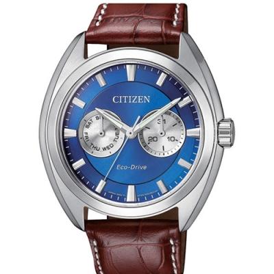 CITIZEN 星辰GENTS 時尚男錶質感光動能小牛皮腕錶( BU4011-11L)