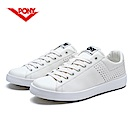 【PONY】TOP STAR 時尚皮革百搭情侶款小白鞋休閒鞋 運動鞋女鞋 白