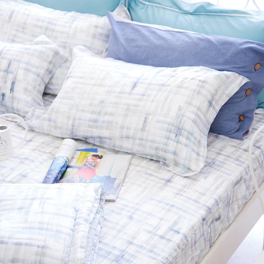 OLIVIA skittles 藍 標準單人床包歐式枕套兩件組 天絲™萊賽爾 台灣製