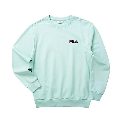 FILA 男長袖圓領T恤-淺灰綠 1TET-5500-LN
