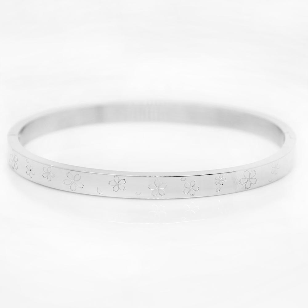 RELAX TIME 限定櫻花雙面手環 銀色