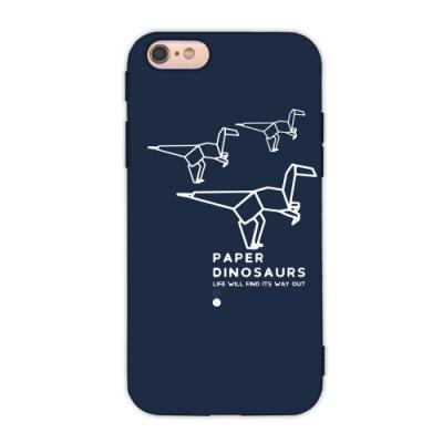 【TOYSELECT】iPhone 6/6sPlus 幾何恐龍設計手機殼:跳跳龍(深藍色)