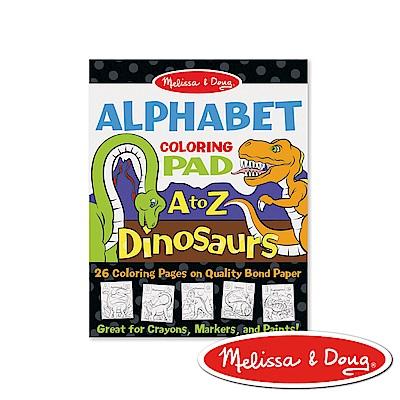 美國瑪莉莎 Melissa & Doug 大型兒童繪圖本 - 英文字母+恐龍 3入組