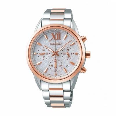 SEIKO LUKIA繽紛動人太陽能腕錶V175-0EW0KS/SSC828J1