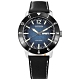 CITIZEN  光動能 潛水風 星期日期 防水100米 小牛皮手錶-藍x銀框x黑/44mm product thumbnail 1
