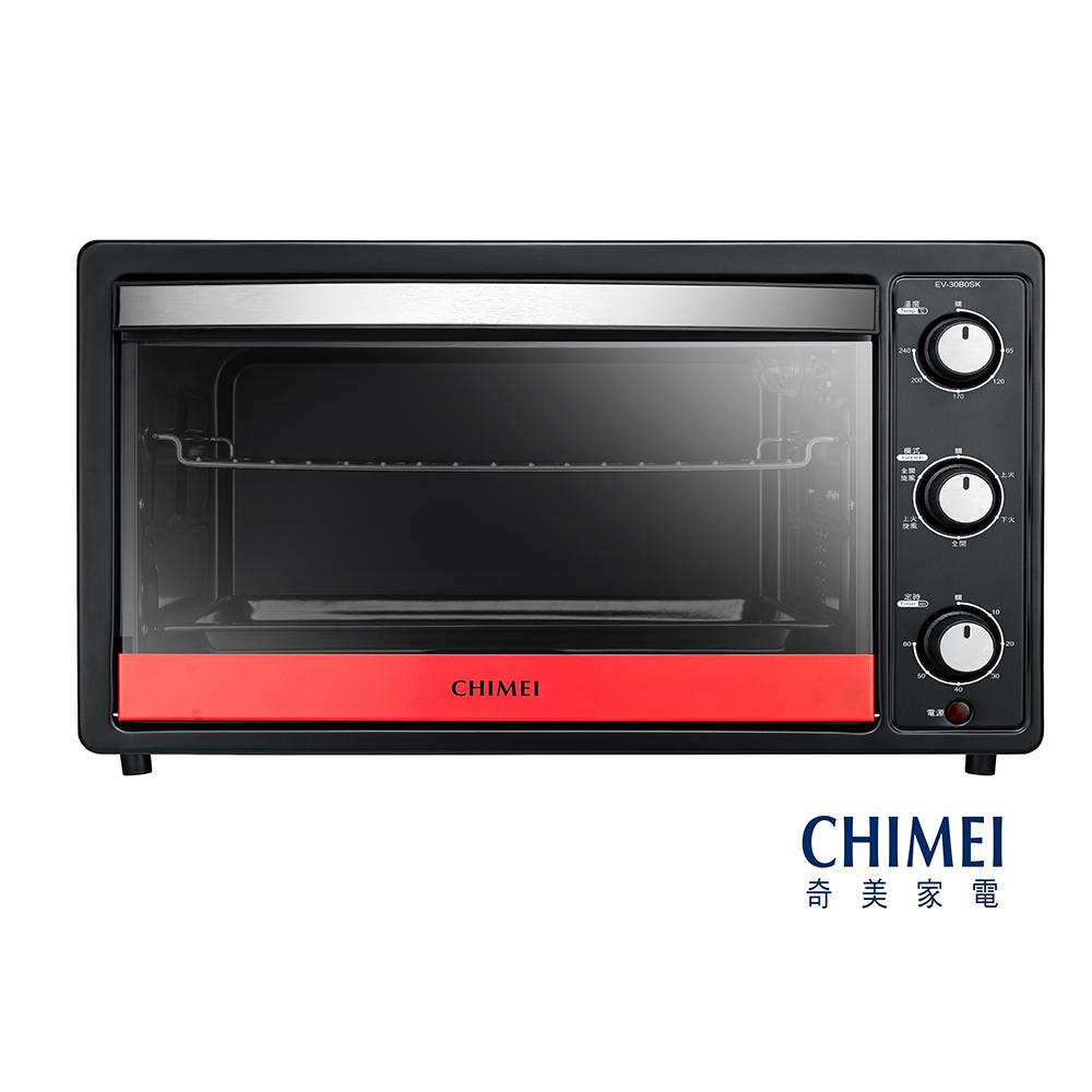 CHIMEI奇美30L家用旋風烤箱-莓果紅 EV-30B0SK-R