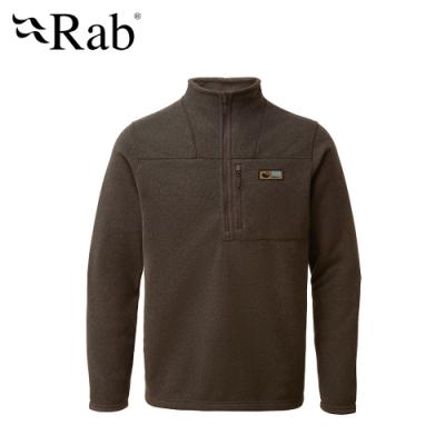 【英國 RAB】Quest Pull-on 長袖高領拉鍊刷毛衣 男款 鷦鷯棕 #QFB25