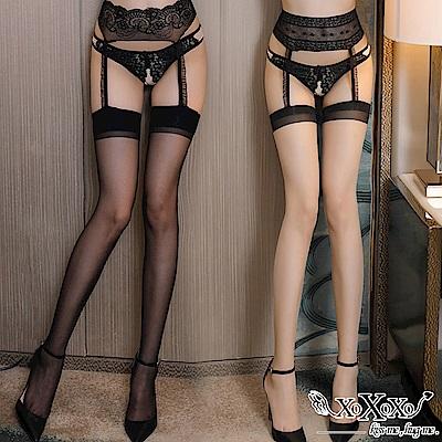 吊帶襪 浪漫幻想薄透吊帶絲襪 2件組 XOXOXO