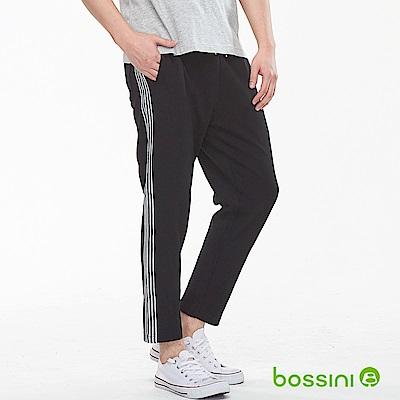 bossini男裝-休閒針織長褲黑