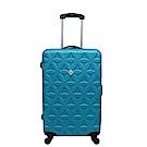 Gate9花花系列/28吋/ABS霧面輕硬殼旅行箱/行李箱-土耳其藍