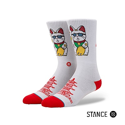 STANCE THANK YOU ENJOY-男襪-休閒襪-日本招財貓圖樣設計款