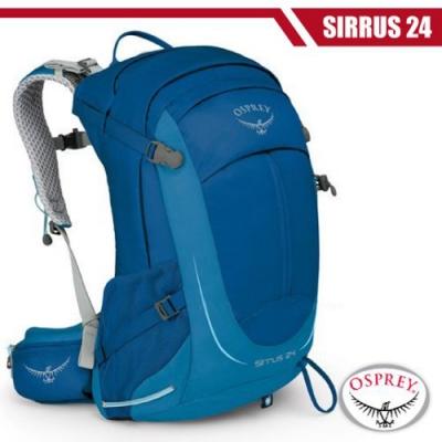OSPREY 女新款 SIRRUS 24 輕量透氣健行登山背包_高峰藍 R