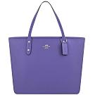 COACH 紫色防刮皮革托特包-大型