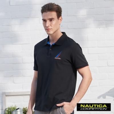 Nautica COMPETITION經典素色POLO衫-黑色