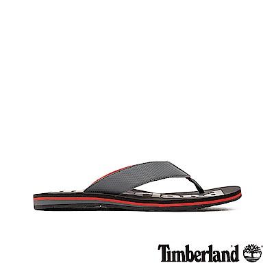 Timberland 男款中灰色柔軟狂野沙丘撞色夾腳拖鞋|A1VP3