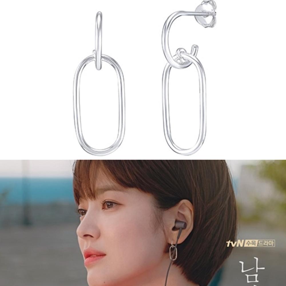 梨花HaNA 男朋友第1集車秀賢 (宋慧喬) 橢圓圈圈耳環