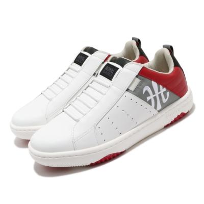 Royal Elastics 休閒鞋 Manhood 2.0 穿搭 男鞋 基本款 套腳 舒適 簡約 皮革 球鞋 白 紅 06501081