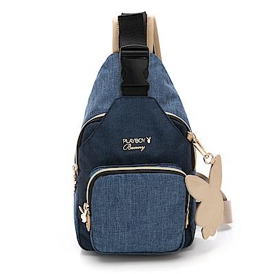 PLAYBOY-  單肩背包 單寧世代系列 -藍色