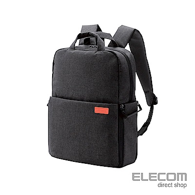 ELECOM 帆布多功能旅行後背包(L)S041-黑