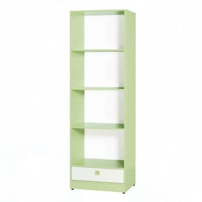 文創集 安倍 環保2尺南亞塑鋼單抽開放四格置物櫃/收納櫃-61.4x45x193.6cm免組