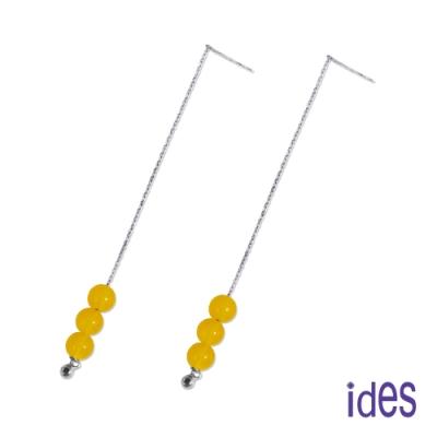 ides愛蒂思 設計款東方系列天然玉髓耳環/黃龍玉隨耳線