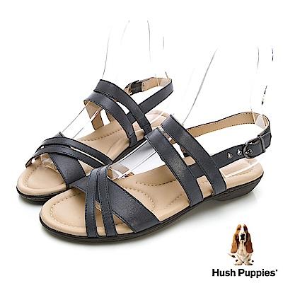 Hush Puppies DACHSHUND 舒適減壓羅馬涼鞋-煙灰