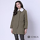 CHICA 甜美率性保暖內鋪棉長版飛行員外套(2色)