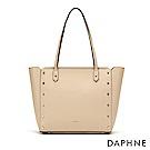 達芙妮DAPHNE-經典百搭鉚釘造型子母拖特包-杏色