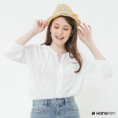 Hang Ten - 女裝 - 甜美仿波西米亞風上衣 - 白