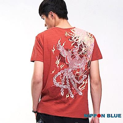 日本藍 BLUE WAY  瑞兆四獸-朱雀短TEE