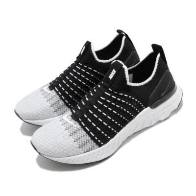 Nike 慢跑鞋 React Phantom Run 女鞋 襪套 輕量 運動 黑 白 CJ0280001