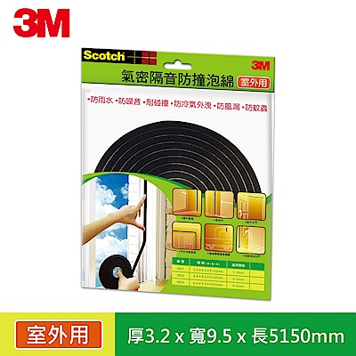 3M 戶外型氣密隔音防撞泡棉 -間隙1~3 mm (8801 )
