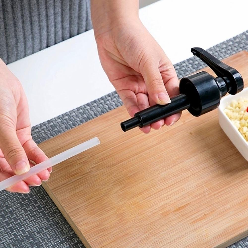 【佳工坊】矽膠管材質 醬油醬料調味料按壓頭擠壓頭