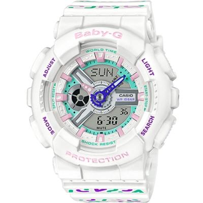 BABY-G  繽紛色彩雙顯運動錶(BA-110TH-7A)