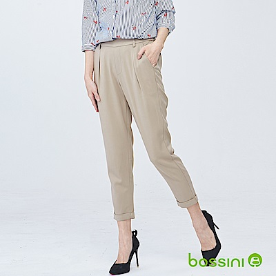 bossini女裝-彈性修身褲02卡其