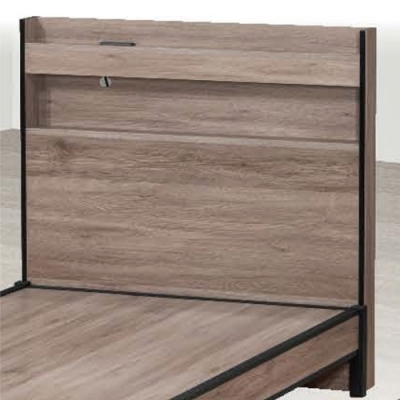 綠活居 寶娜 現代3.5尺單人插座可收納床頭片(不含床底&不含床墊)-106.5x10x105cm免組