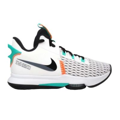 NIKE LEBRON WITNESS V EP 男籃球鞋-氣墊 高筒 避震 CQ9381100 白灰黑綠橘