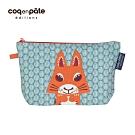 【COQENPATE】法國有機棉無毒環保化妝包 / 筆袋- 畫筆兒的家 - 松鼠