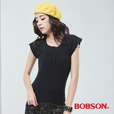 BOBSON 女款毛衣-黑色