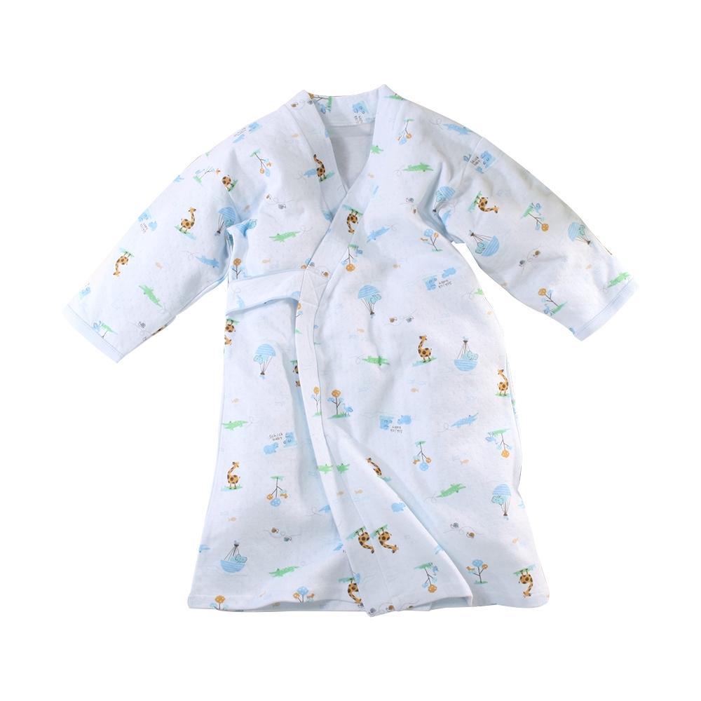 嬰兒長袍 台灣製秋冬厚款純棉護手和服長睡袍 b0322 魔法Baby