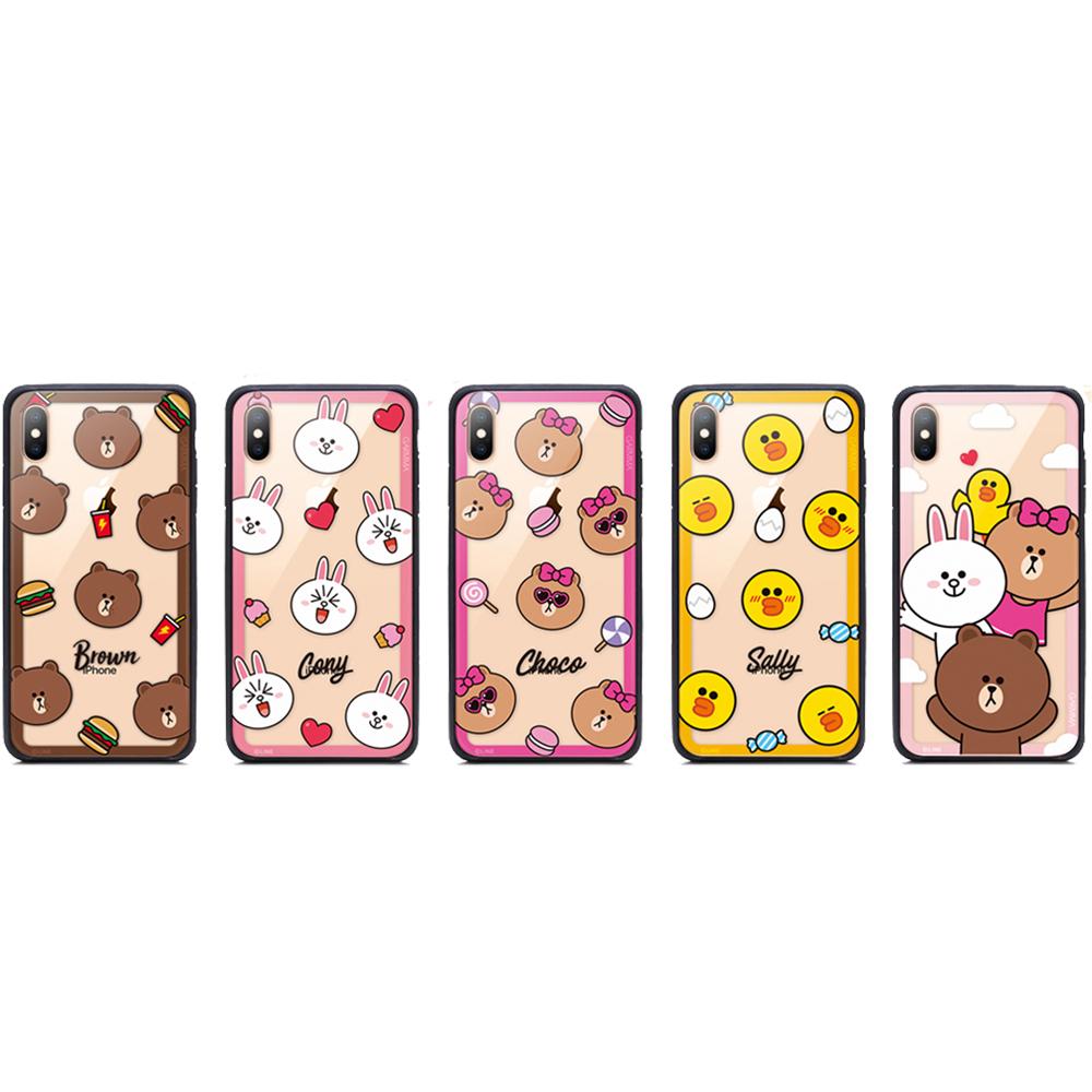 GARMMA LINE FRIENDS iPhone X/XS 鋼化玻璃殼 @ Y!購物