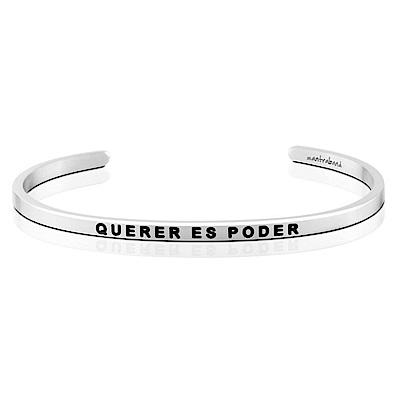 MANTRABAND Querer Es Poder 心想事成 銀色手環 西班牙文版