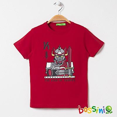 bossini男童-印花短袖T恤03紅色