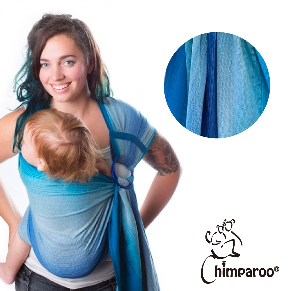 【加拿大 Chimparoo】雙環親密揹巾 - 口袋版【 海洋】
