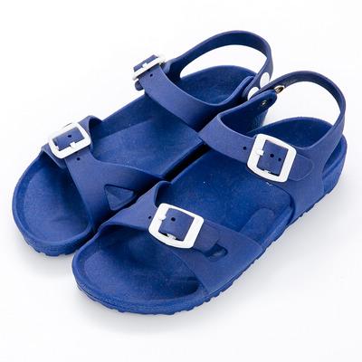 River&Moon防水鞋-台灣製輕量造型防水涼拖鞋-藍