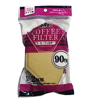 日本MARUKI德國製無漂白咖啡濾紙450枚原木色90枚5包1~2人用